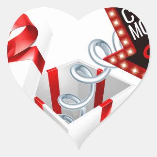 Adesivo Coração Sinal da venda do primavera de caixa de