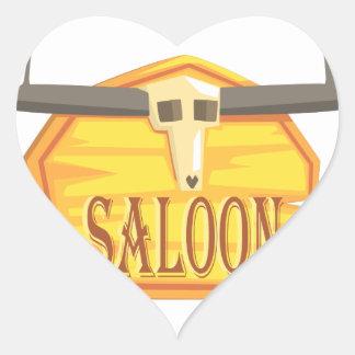 Adesivo Coração Sinal do bar com o desenho da cabeça inoperante
