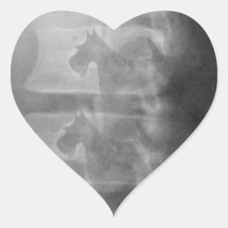 Adesivo Coração síndrome do cão do scottie