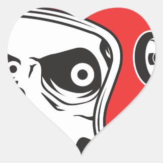 Adesivo Coração ☞ Skullracer motorcycle helmet