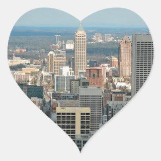 Adesivo Coração Skyline de Atlanta
