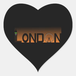 Adesivo Coração Skyline de Londres