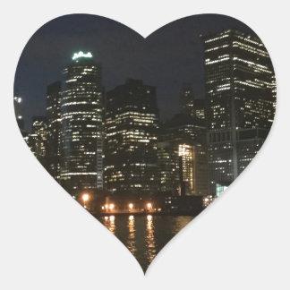 Adesivo Coração Skyline de Manhattan