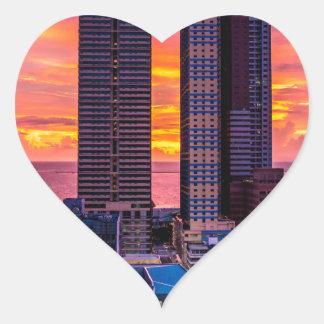 Adesivo Coração Skyline de Manila Filipinas