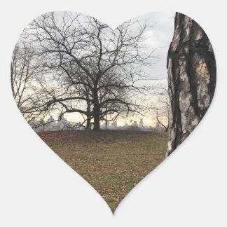 Adesivo Coração Skyline do Central Park do nascer do sol de New