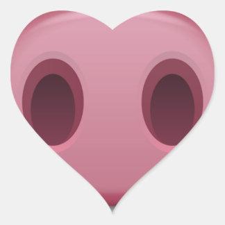 Adesivo Coração Snout de PinkPig