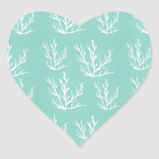 Adesivo Coração sob o mar