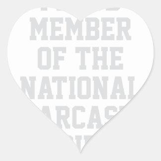 Adesivo Coração Sociedade nacional do sarcasmo