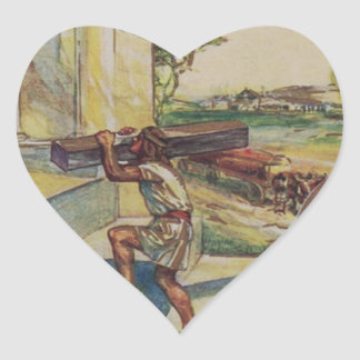 Adesivo Coração solomontemplemason