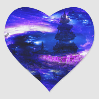 Adesivo Coração Sonhos Amethyst de Bali da safira