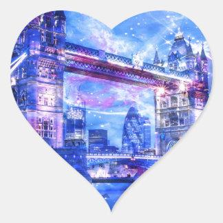 Adesivo Coração Sonhos da Londres do amante