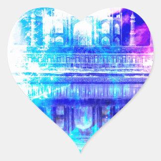 Adesivo Coração Sonhos de Taj Mahal do céu da criação