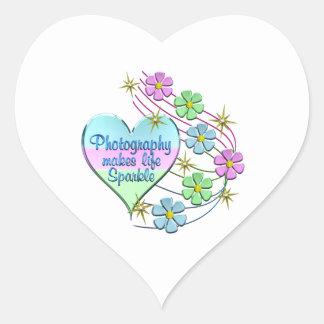 Adesivo Coração Sparkles da fotografia
