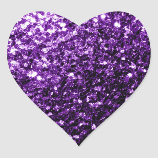 Adesivo Coração Sparkles roxos escuros bonitos do brilho