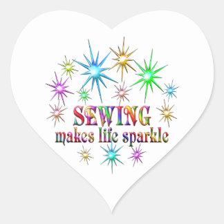 Adesivo Coração Sparkles Sewing