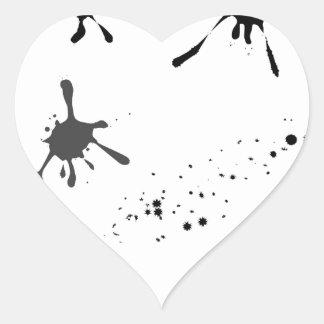 Adesivo Coração Splat
