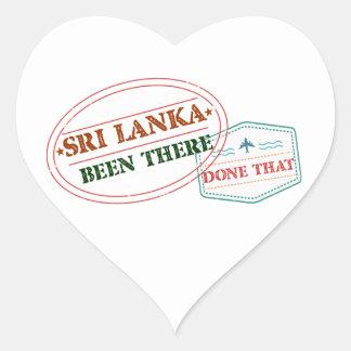 Adesivo Coração Sri Lanka feito lá isso