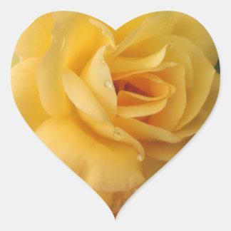 Adesivo Coração stickers coração recortar amarelo
