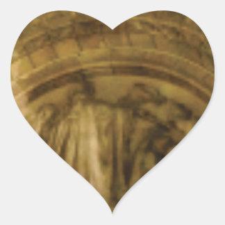 Adesivo Coração stonework amarelo do arco