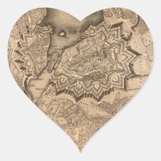 Adesivo Coração Suiça 1773 de Genebra