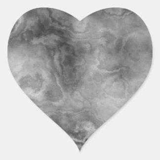 Adesivo Coração Superfície de mármore
