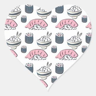 Adesivo Coração Sushi de Nigiri