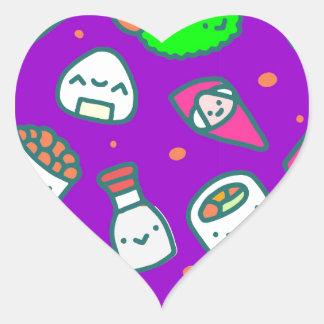 Adesivo Coração Sushi Moki