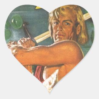 Adesivo Coração Swordsman louro