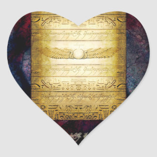 Adesivo Coração Tabuleta do egípcio V042