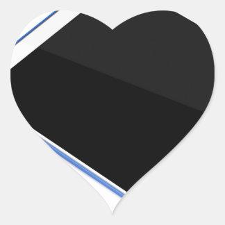 Adesivo Coração Tabuleta no suporte e na caneta digital