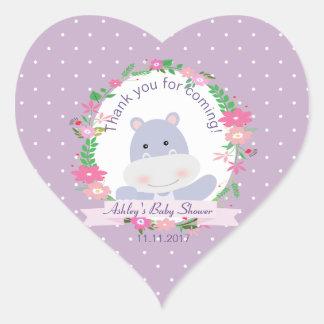 Adesivo Coração Tag do presente do partido de chá do bebé do