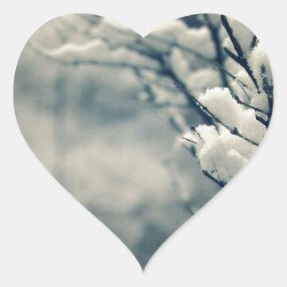 Adesivo Coração Tapete do rato nevado da árvore