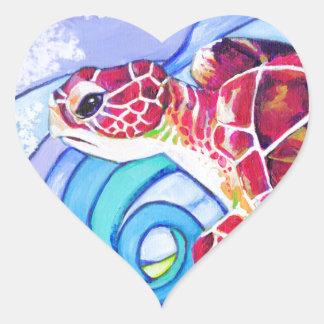 Adesivo Coração Tartaruga de Surfin