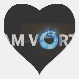 Adesivo Coração TeamVortex