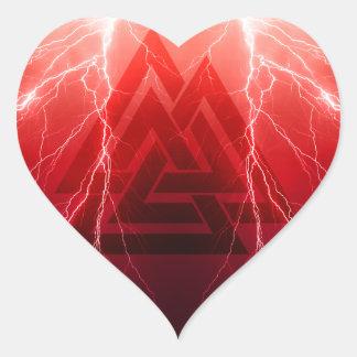 Adesivo Coração Tempestade de Viking