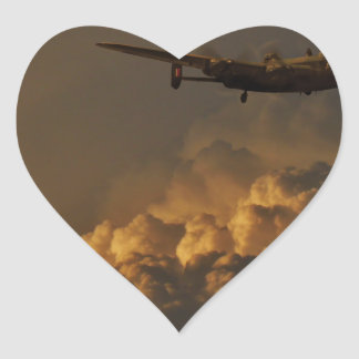 Adesivo Coração TEMPESTADE do bombardeiro de Lancaster