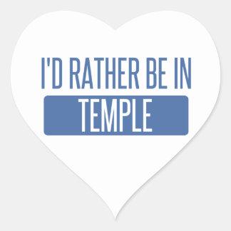 Adesivo Coração Templo