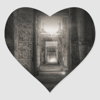 Adesivo Coração Templo Abydos de Seti I