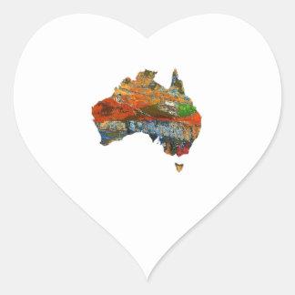 Adesivo Coração Tempo australiano