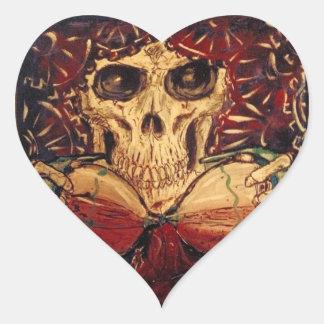 Adesivo Coração tempo e morte