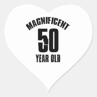Adesivo Coração TENDENDO o DESIGN do ANIVERSÁRIO das pessoas de 50