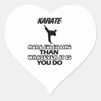 Adesivo Coração Tendendo o DESIGN do karaté
