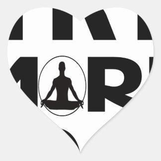 Adesivo Coração Tente mais ioga