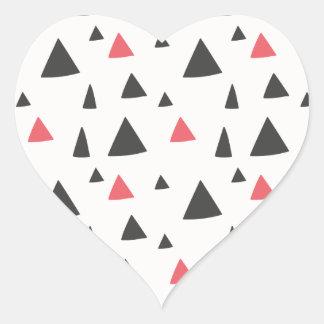 Adesivo Coração Teste padrão do triângulo