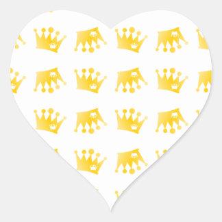 Adesivo Coração Teste padrão dobro da coroa