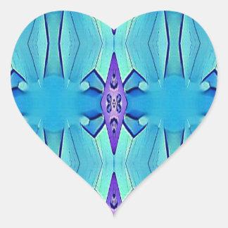 Adesivo Coração Teste padrão feminino do Lilac azul Azure bonito