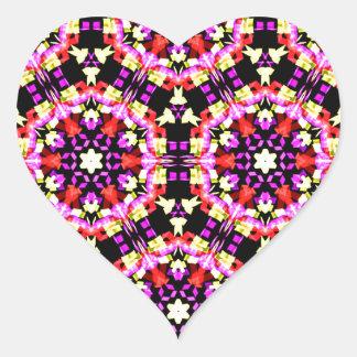 Adesivo Coração Teste padrão floral minúsculo