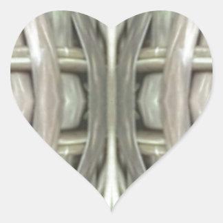 Adesivo Coração Teste padrão tonificado cinzas do Weave de Nuetral