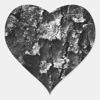 Adesivo Coração Textura de madeira