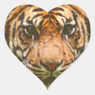 Adesivo Coração Tigre